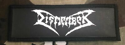 Dismember Logo Printed Patch D044P Entombed Carnage Napalm Death