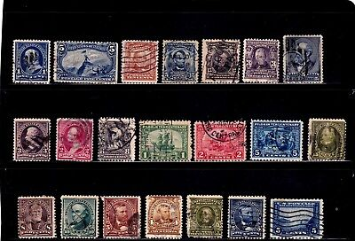 U S  POSTAGE Lot of 41 Assorted Stamps 1920s 1930s 1940s