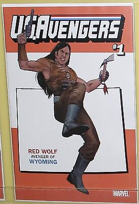 US Avengers #1 Marvel Comics 2017 Rod Reis Wyoming Variant Cover Comic Red Wolf