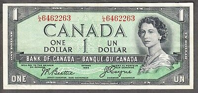 1954 Bank of Canada - $1 Devil Face Note - VF/EF - Beattie Coyne - L/A 6462263