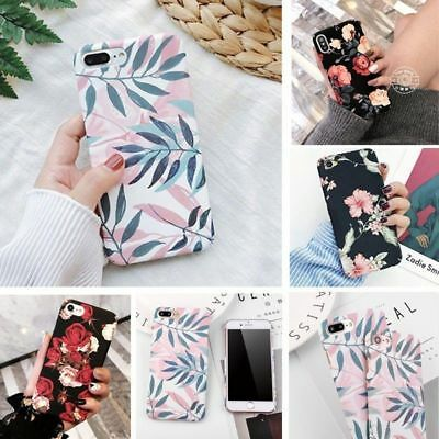 For Samsung Galaxy S9 / S7 Cute Hard Rugged Pattern Flower Phone Slim Case Cover