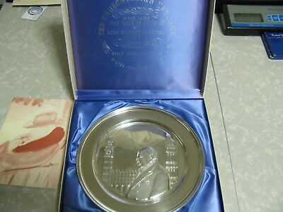 1972 Winston Churchill Commemorative  Sterling Silver Plate 'hour Of Decision'