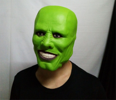 Movie The Mask Jim Carrey Loki Latex Mask Cosplay Prop Party Costume Halloween