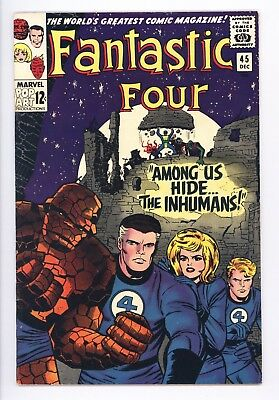 Fantastic Four #45 Vol 1 Near Perfect High Grade 1st Appearance of the Inhumans