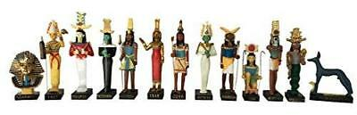 Ancient Egypt Egyptian God 13 Figurines Set Resin Statue Size 5' High (Khnoum,