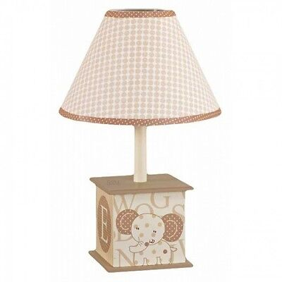 CoCaLo Baby Sweet Latte Jungle Theme Nursery Collection Lamp Base & Shade, Tan
