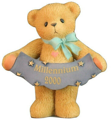 Cherished Teddies Millennium 2000 Figurine Enesco 1999 Avon Exclusive Retired