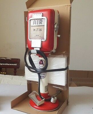 GAS FUEL GILMORE red lion AIR PUMP compressor coin BANK tin tinplate handmade