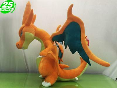 NEW LARGE 25 inches Pokemon Charizard Y Plush Doll SKIN ONLY PNPL2198