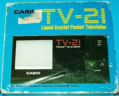 Vintage Casio Tv-21 Liquid Crystal Working Pocket Television