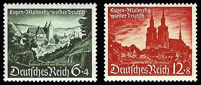 EBS Germany 1940 Eupen & Malmedy return to Reich Michel 748-749 MNH** $21