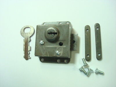 10L lock  for Automatic Electric 3 slot payphone vault door. Gray also