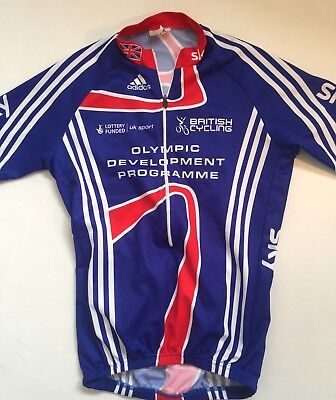 Adidas Great Britain TEAM GB OLYMPICS cycling jersey shirt top size L