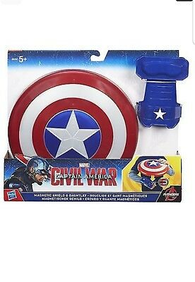 Marvel Captain America Civil War Magnetic Shield and Gauntlet*BRAND NEW*