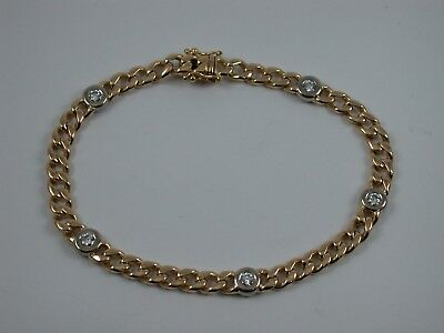 interessantes hochwertiges Brillant  Armband Gold 750