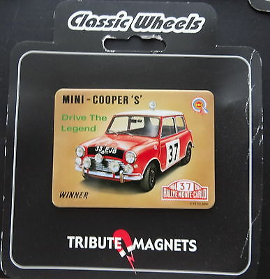 Classic Wheels Tribute Magnets MINI COOPER S Rallye Monte-Carlo 1964 Winner