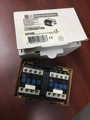 Telemecanique Lc2D0901G6 Reversing Contactor 120V 60Hz, 007696 New In Box