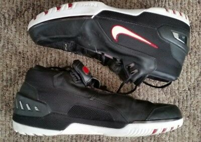 06011dda5e35 2004 Og Lebron James Rookie Nike Air Zoom Generation Black White Crimson  Size 17