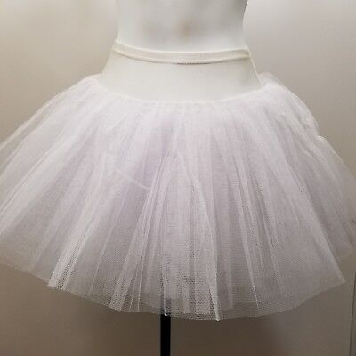 White Practice Tutu Costumes Dress Up Party Dance Halloween Ballet