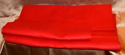 Felt Piece Bright Red Pre-Owned 64 Inches  X 14 1/2 Inches