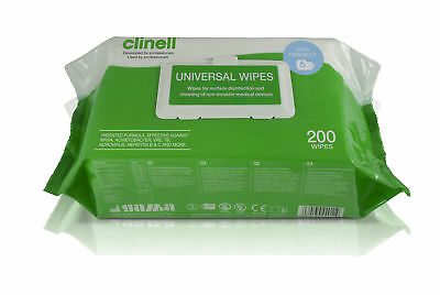 200 Clinell Universal Sanitising Disinfectant Wipes