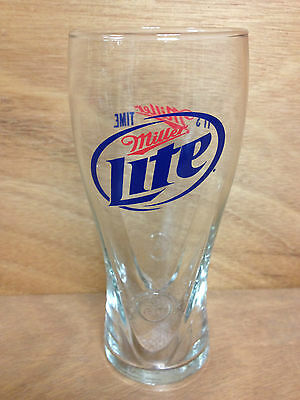 Miller Lite 16 oz Signature Pilsner Glass - Set of Two (2) Glasses New & F/Shipn