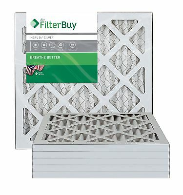 FilterBuy 10x10x1 MERV 8 Pleated AC Furnace Air Filter, (Pack of 6 Filters),