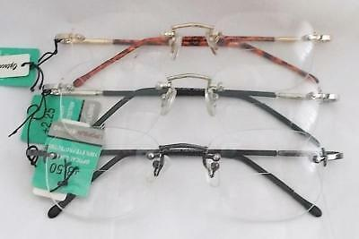 Bifocal Reading Glasses Rimless Unisex Style  Color Choice Readers Free Us Ship