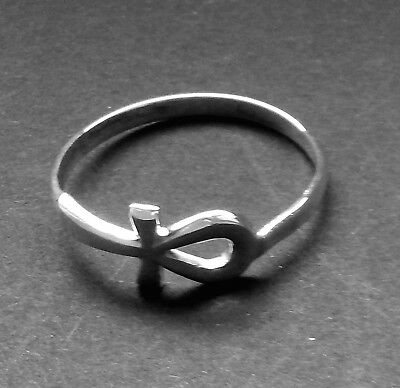 Ancient Egyptian Symbol / Ankh or Key of Life Ring / Size 8.5  /Sterling Silver