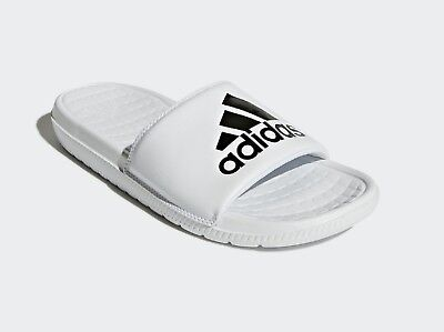 New Adidas Men's Voloomix Graphic Sandals Slides ~ Size Us 10 ~ #cp9447 White