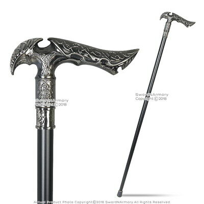 Elvish Style Gentleman's Walking Stick w/ Zinc Handle 36.5 Metal Cane Rubber Tip