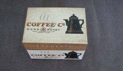 Tri Coastal Design Art In Motion Dark Roast Storage Recipe Box 2004