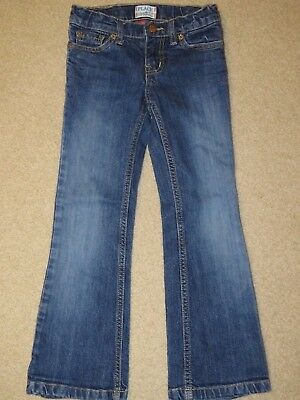 Children's Place bootcut stretch jeans - size 6 - hearts on pockets - adjustable
