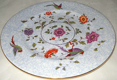 Pair of Crown Staffordshire Bird of Paradise Salad Plates