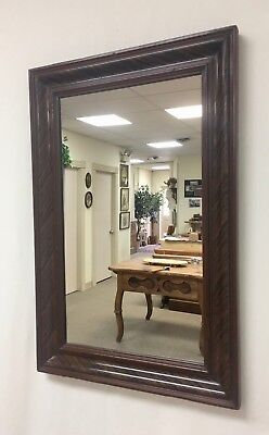 Antique Pine Grain-Painted Wall Mirror