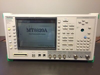 Anritsu MT8820A Radio Communication Analyzer 30MHz - 2.7GHz Opt. 01