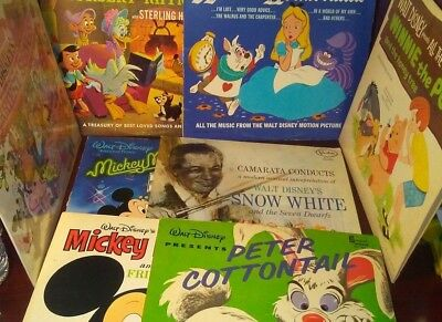 Vintage Lot Of 8 Walt Disney Record Albums 17 50 Picclick