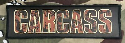 Carcass Logo Large Super Strip Printed Patch C043P Entombed Napalm Death