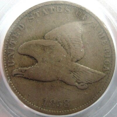 1858 Small Letters Flying Eagle Cent Penny 1c PCGS F12 15274549 06302018