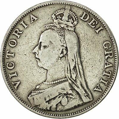 [#492866] Coin, Great Britain, Victoria, Double Florin, 1889, VF(30-35), Silver