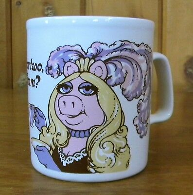 Vintage 1980 The Muppets MISS PIGGY Tea For Two, Hmm? KILN CRAFT Coffee MUG