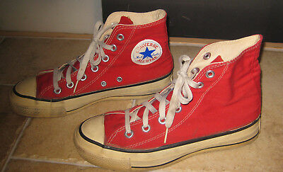 3d6ce2757cb5 CONVERSE ALL STAR CHUCK TAYLOR RED Vintage Sneakers Men s Size 5 Made in USA