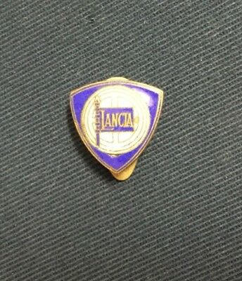 Rare Badge Broche Emaillée 1950 LANCIA Label Pin !!!