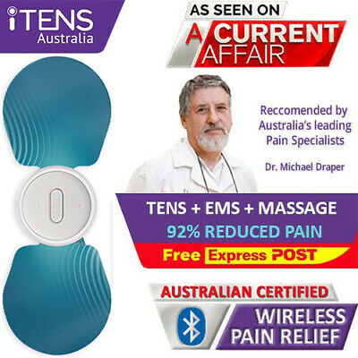 TENS Machine Pads Massager Unit. Physio TENS EMS Machine. Pro iTENS Pain Relief