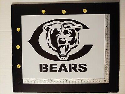 "Chicago Bears Football 11"" x 8.5"" Custom Stencil FAST FREE SHIPPING"