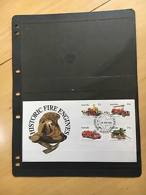 FIRST DAY COVER ALBUM PAGES BLACK Pack of 5 x 2 POCKETS FREE POST