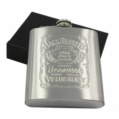 US SHIP 7oz Stainless Steel Alcohol Pocket Flask with Portable Funnel Container