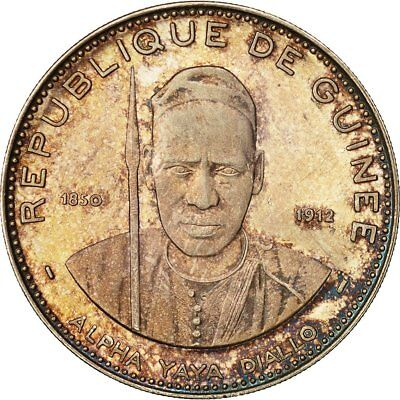 [#492753] Coin, Guinea, 250 Francs, 1969, MS(63), Silver, KM 13