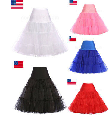 Lady Vintage Square Dance Petticoat Rockabilly Crinoline Underskirt Swing Skirt