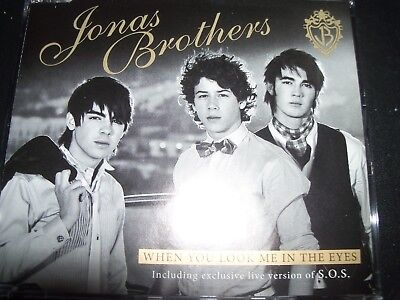 The Jonas Brothers When You Look Me in the Eyes Rare Australian CD Single